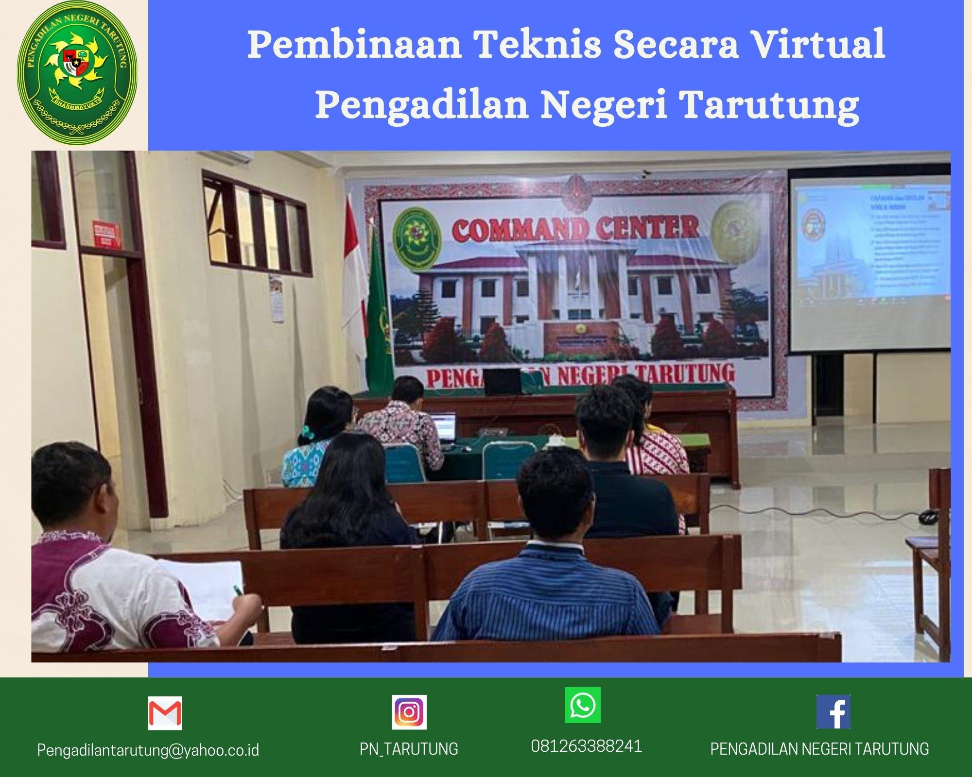 Pembinaan Teknis Secara Virtual Pengadilan Negeri Tarutung