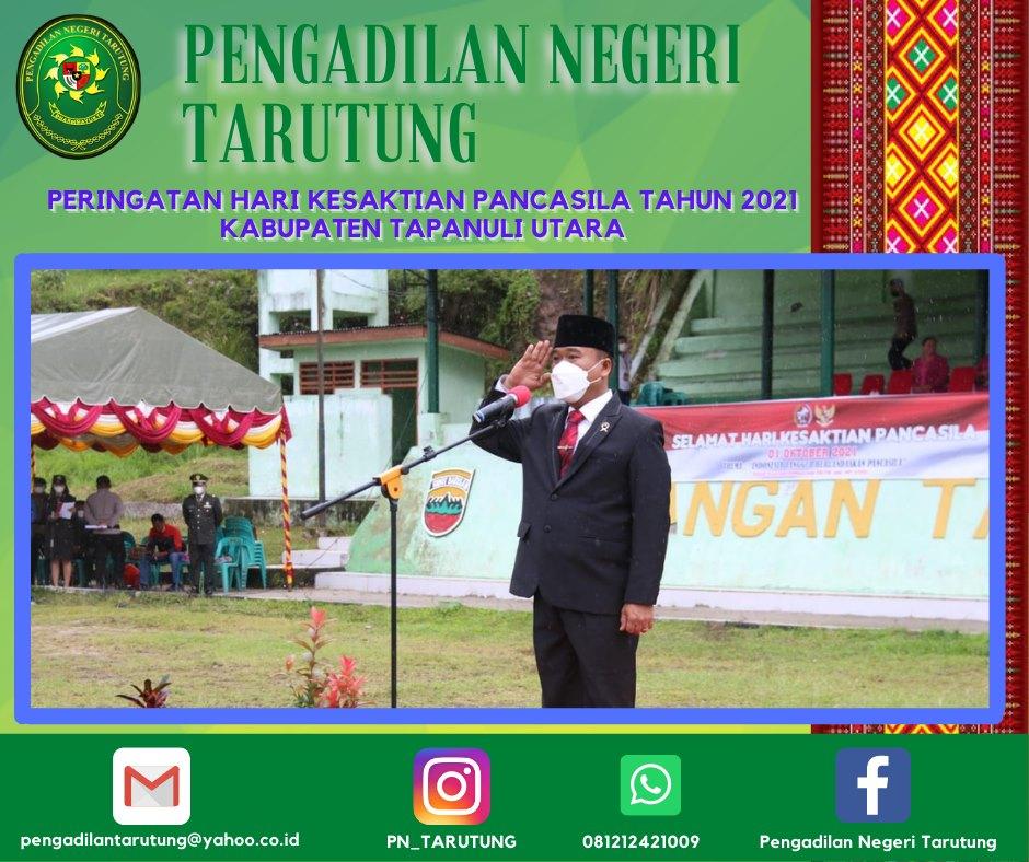 Peringatan Hari Kesaktian Pancasila Tahun 2021 Kabupaten Tapanuli Utara