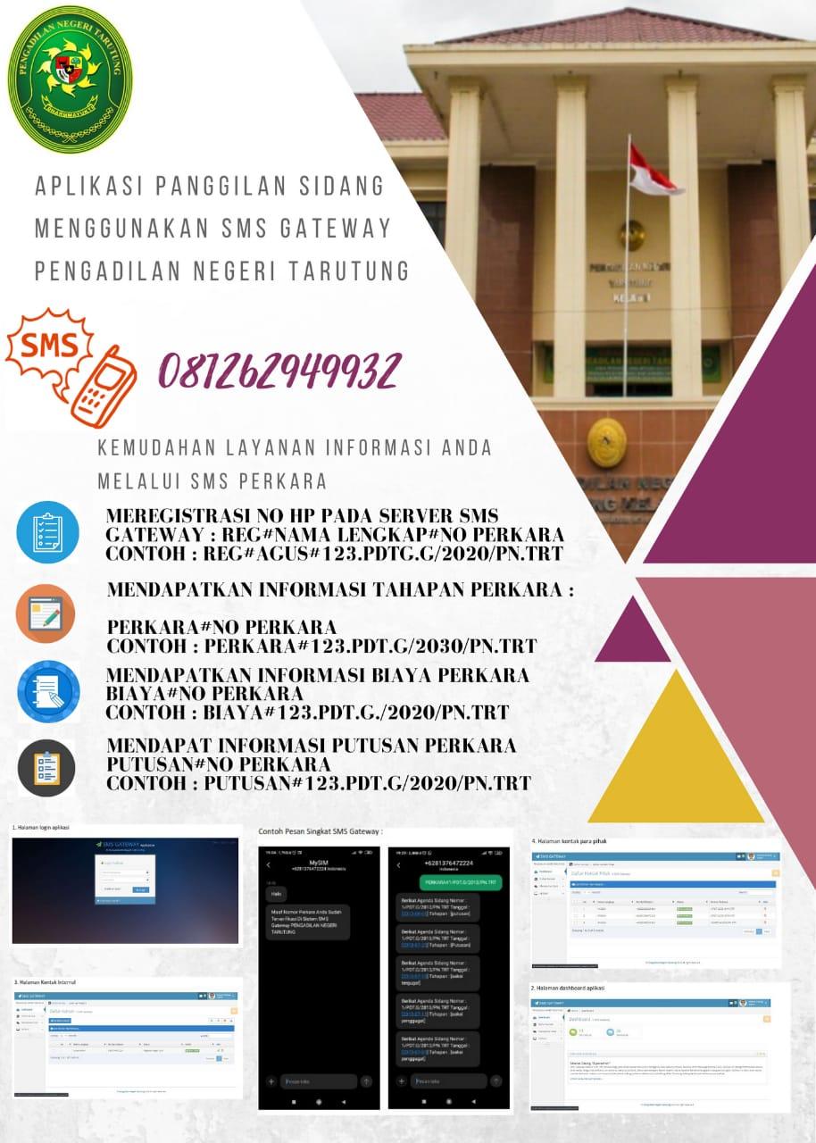 Aplikasi Pemanggilan Sidang Menggunakan SMS GATEWAY di Pengadilan Negeri Tarutung