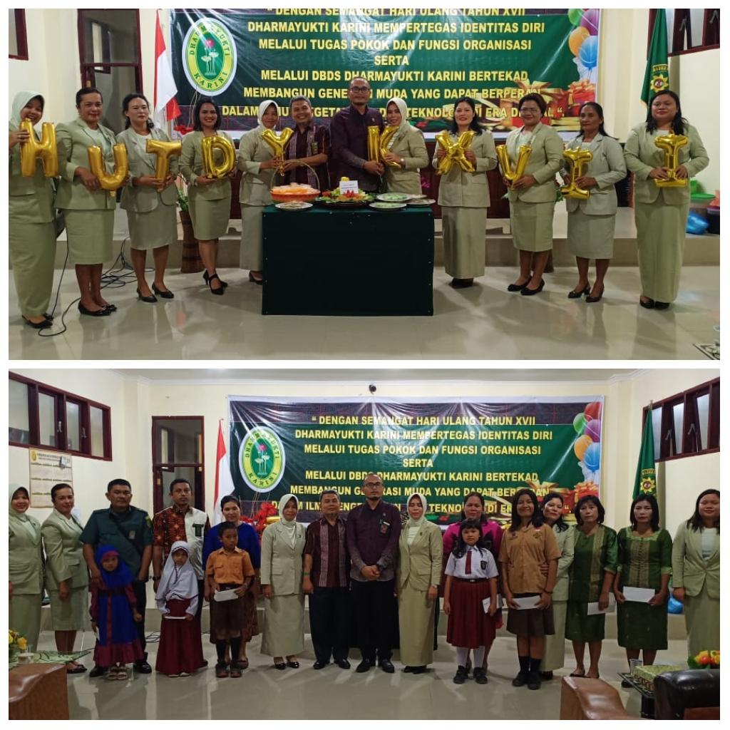 Perayaan Ulang Tahun Dharmayukti Karini ke-XVII dan  Penyerahan Bantuan Dana  Beasiswa ( BDBS)  Tahun 2019 Dharmayukti Karini Cabang  Tarutung