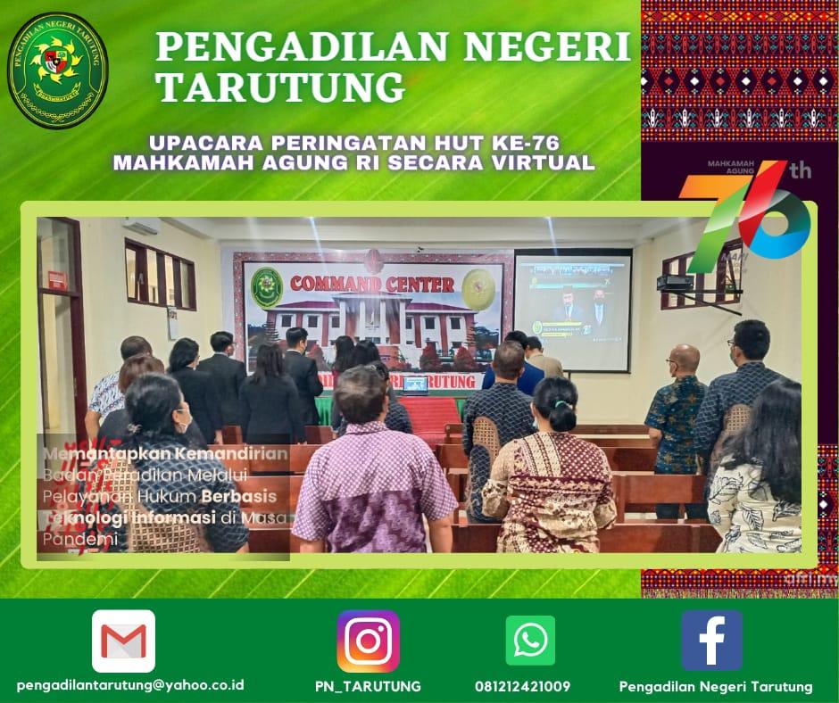 Upacara dalam Rangka Memperingati Hari Ulang Tahun Mahkamah Agung Republik Indonesia ke-76 Tahun 2021