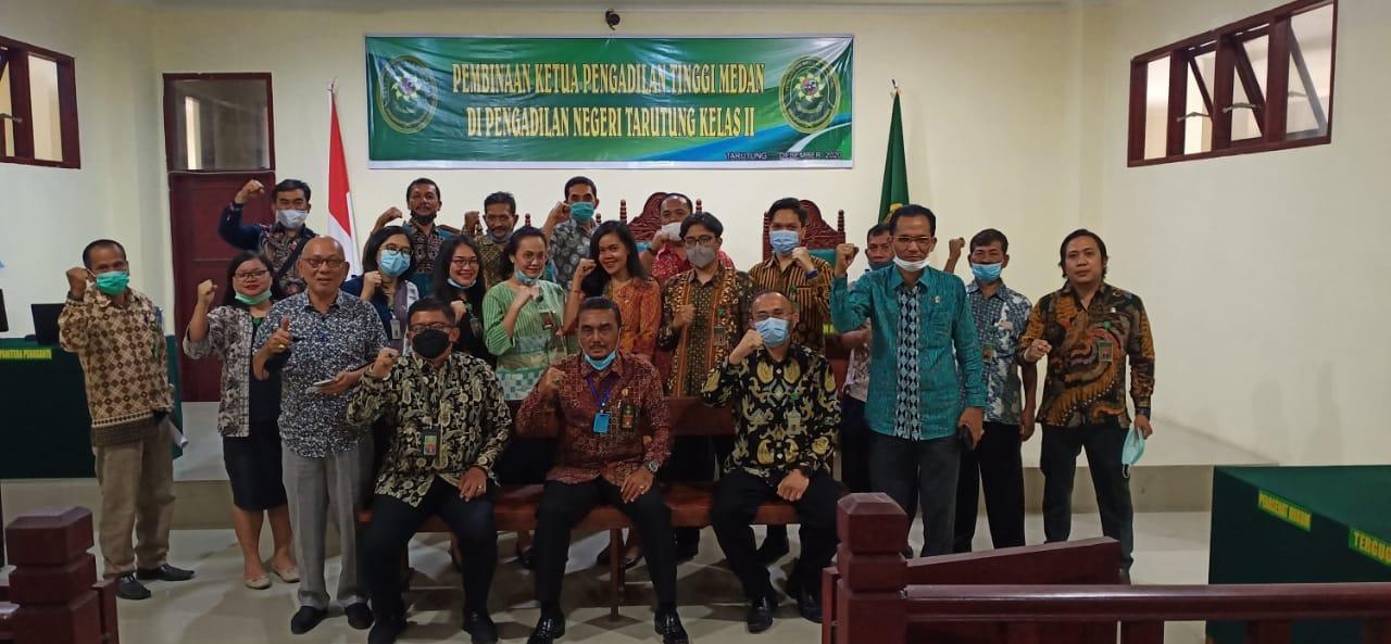Kunjungan Bapak Ketua  Pengadilan Tinggi Medan ke  Pengadilan Negeri Tarutung.