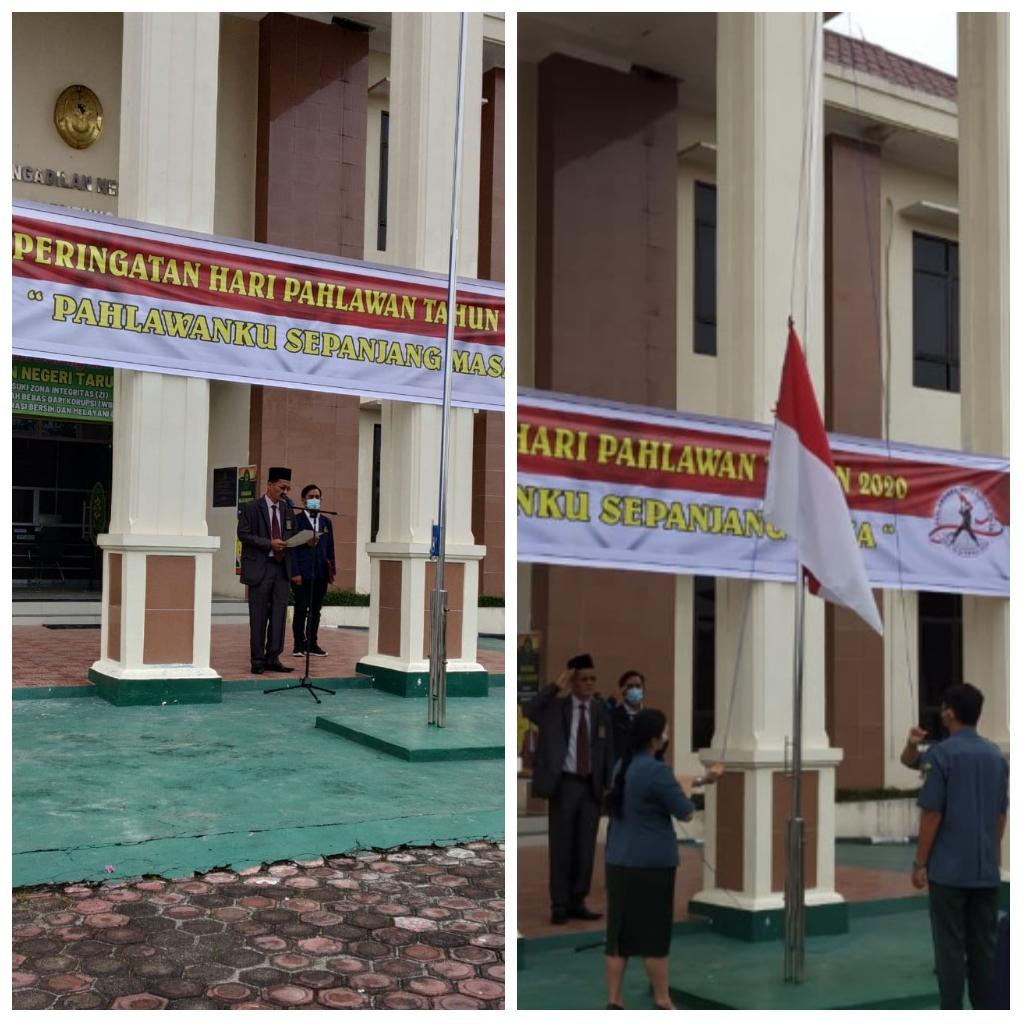 Pengadilan Negeri Tarutung Memperingati Hari  Pahlawan  Ke- 75 Tahun 2020.