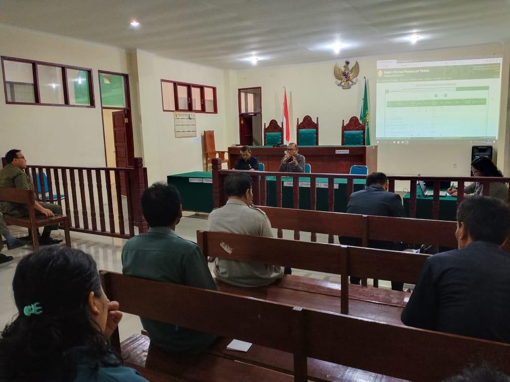 Rapat  Evaluasi dan Monitoring  Pengadilan Negeri  Tarutung Tanggal 3 Juli 2019