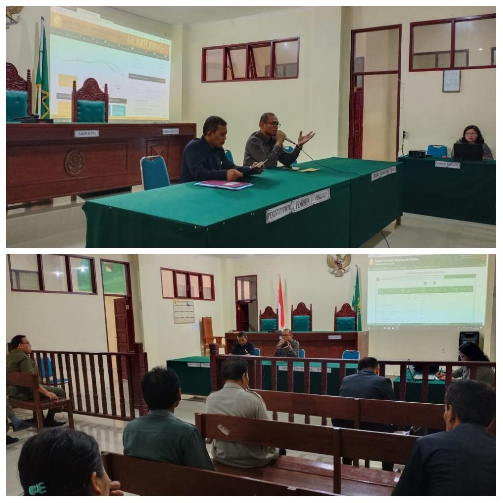 Rapat  Evaluasi  & Monitoring  Pengadilan Negeri  Tarutung