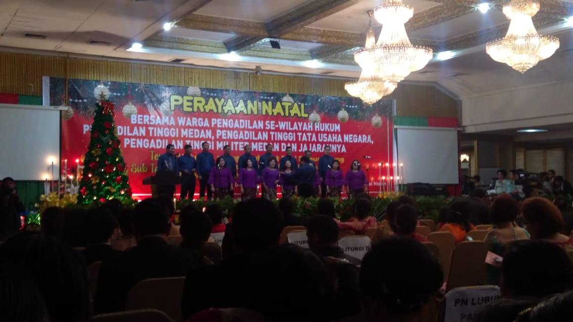 Perayaan Natal  Bersama   Warga Pengadilan Se- Wilayah  Hukum Pengadilan Tinggi Medan, Pengadilan Tinggi Tata Usaha Negara,Pengadilan Tinggi Militer dan Jajarannya  Tahun 2019.