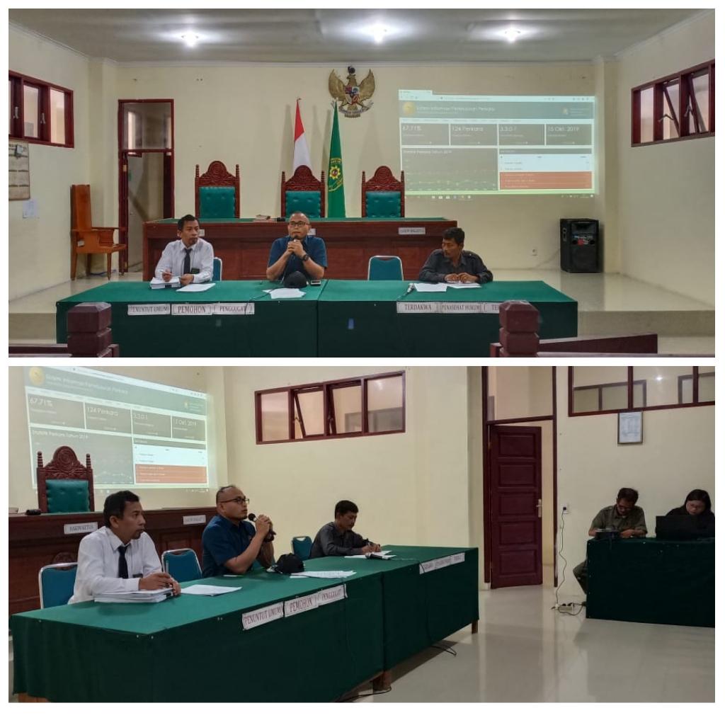 Rapat  Evaluasi Bulanan   pada Pengadilan Negeri  Tarutung