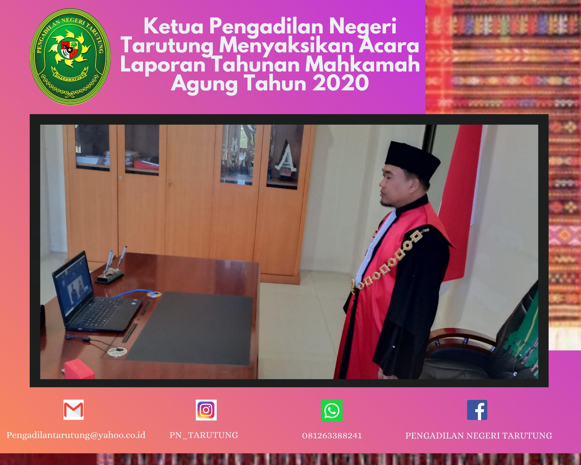Partisipasi Mengikuti Acara Laporan Tahunan Mahkamah Agung Republik Indonesia Tahun 2020.