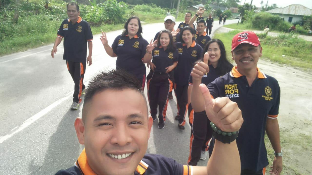 Jalan Sehat  di Pengadilan Negeri Tarutung.