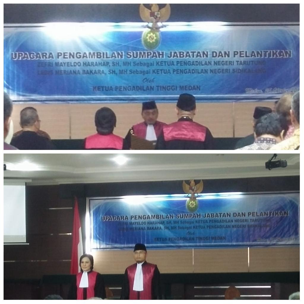 Pelantikan  Ketua Pengadilan Negeri  Tarutung.