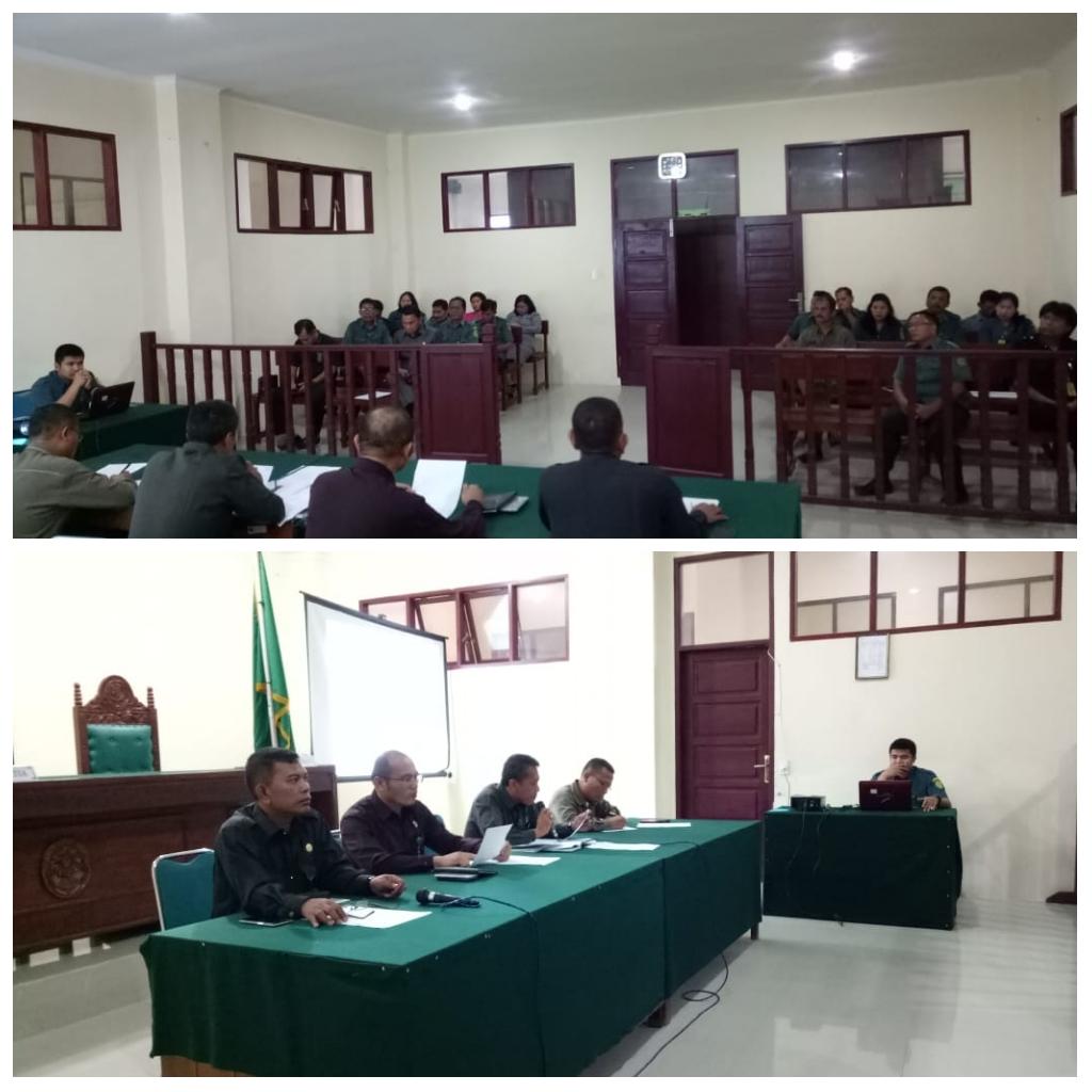 Rapat  Evaluasi Bulanan dan  Sosialisasi Bimbingan Teknis Administrasi Yudisial  pada Pengadilan Negeri  Tarutung
