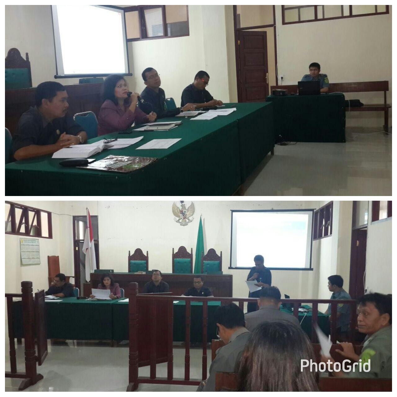 Rapat  Evaluasi Bulanan Pengadilan Negeri  Tarutung