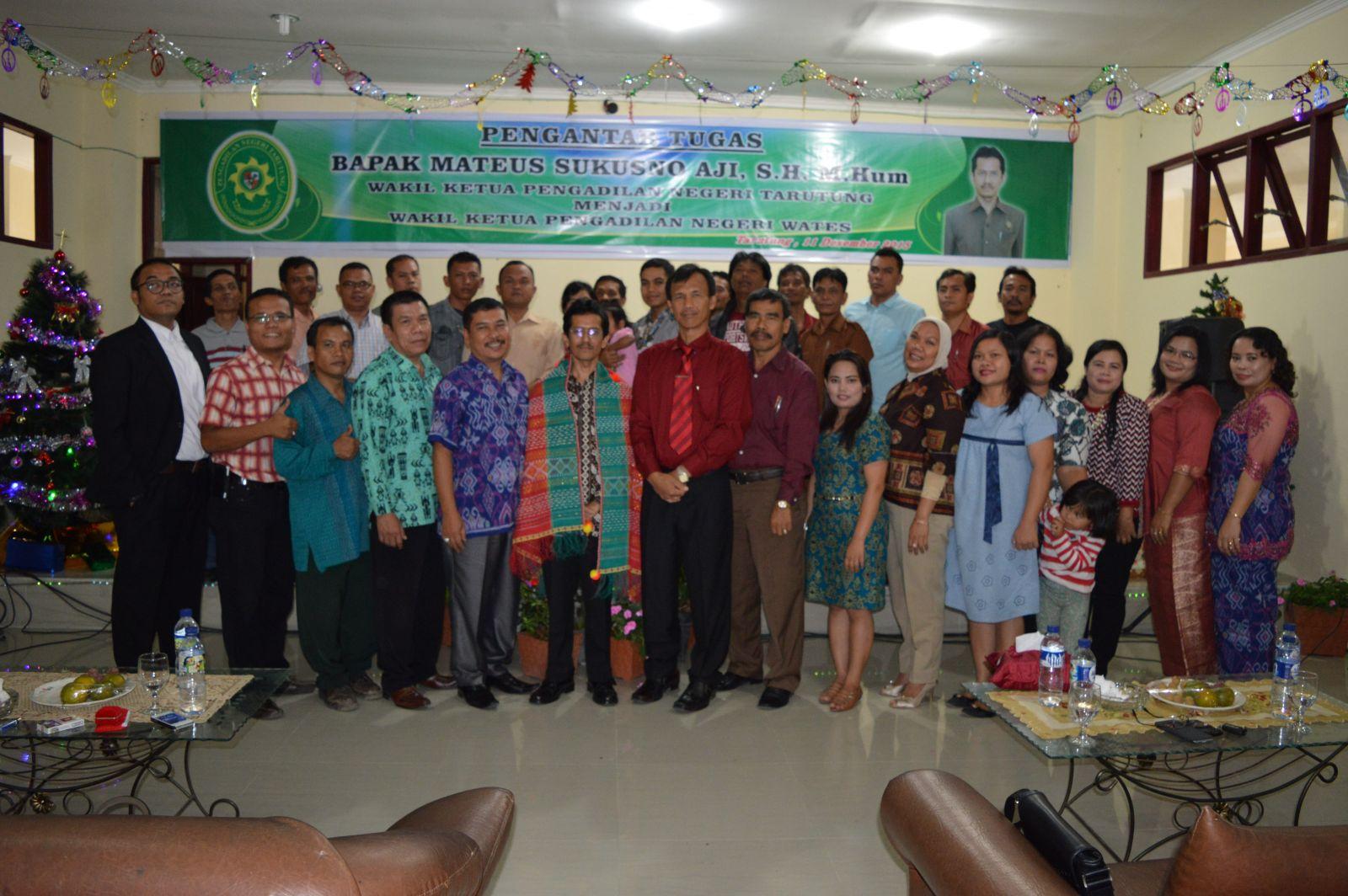 Acara Pelepasan Tugas Wakil Ketua Pengadilan Negeri Tarutung